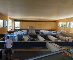 Aufbau für neues Geschoss inkl. Decke und Wände
